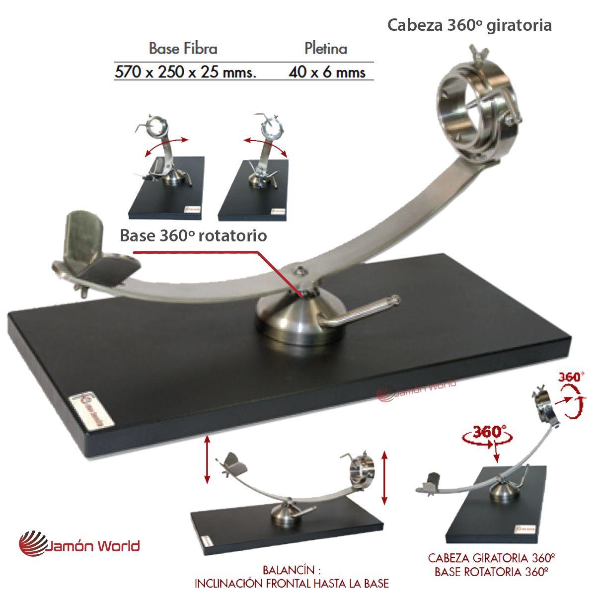 Jamonero fibra giratorio rotatorio 360 Flores C Don Benito Jamon World 17837