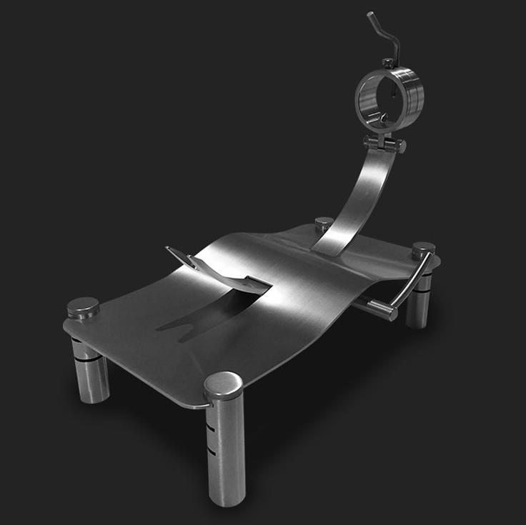 Jamonero profesional de diseño MAVERICK con elevadores de Steel O